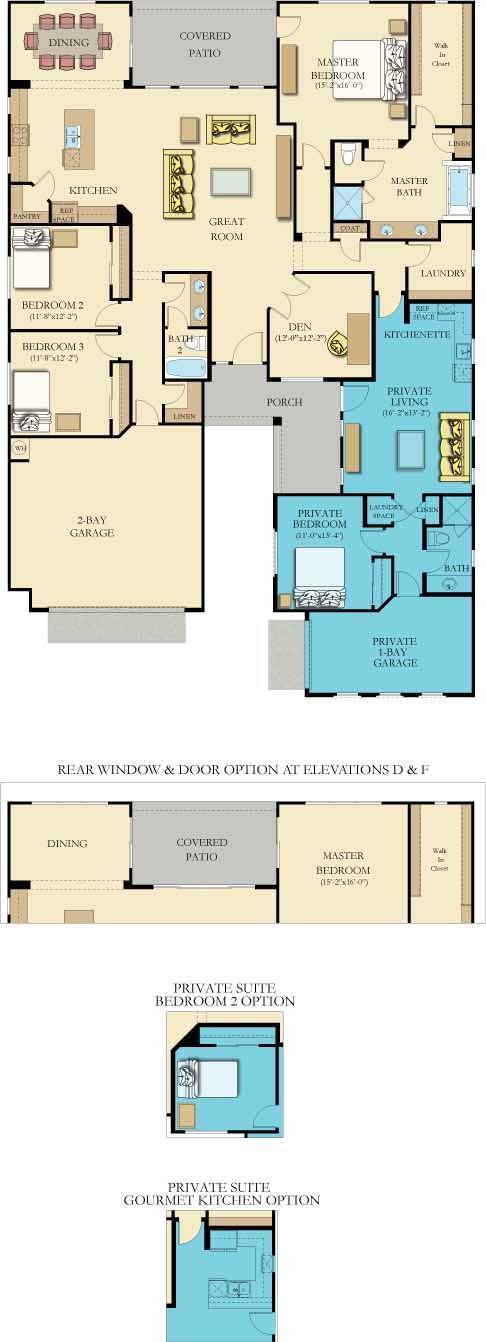 Evolution Next Gen New Home Plan In Signatures At Tortolita Reserve New House Plans House Plans Multigenerational House Plans