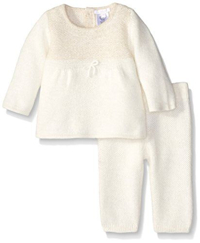 53488a30681 Chloe BabyGirls Newborn Knitted Sweater and Trouser Set Ivory 9 Months    You can find more details by visiting the image link.