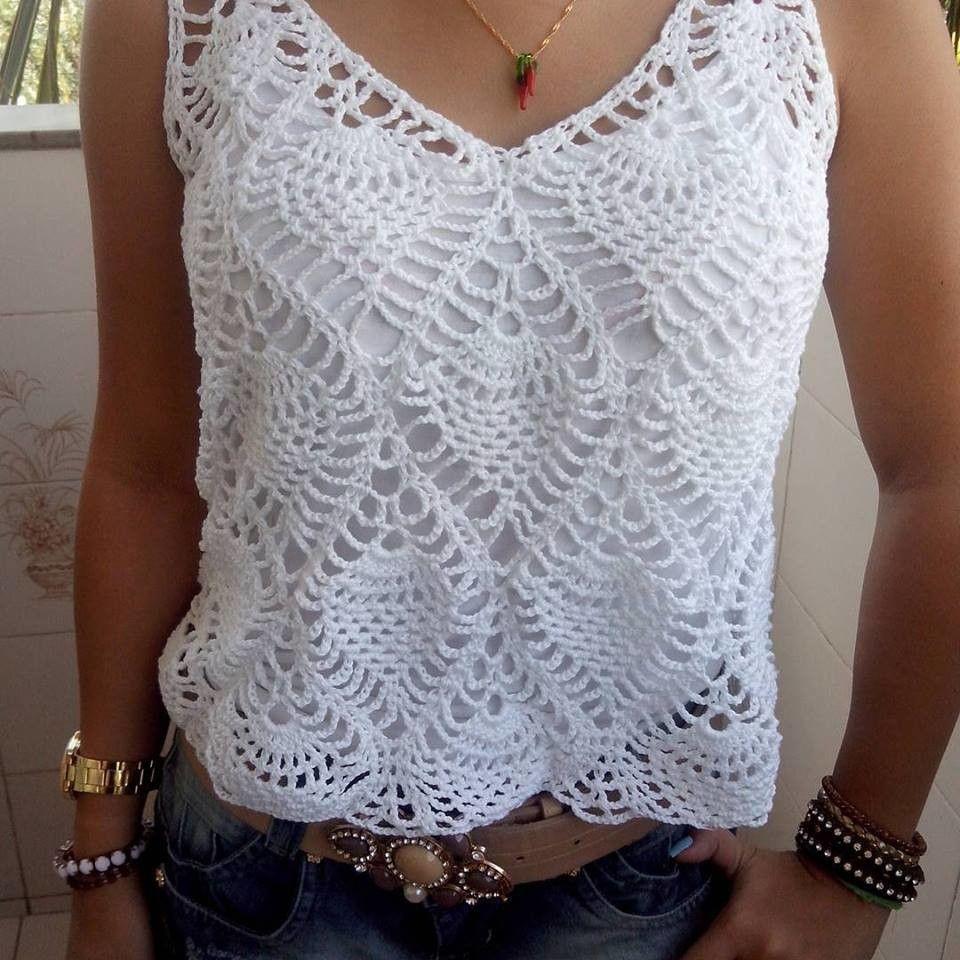 Camiseta em crochê