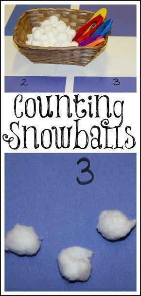 Photo of Preschool Winter Math – Counting Snowballs – Fun-A-Day!