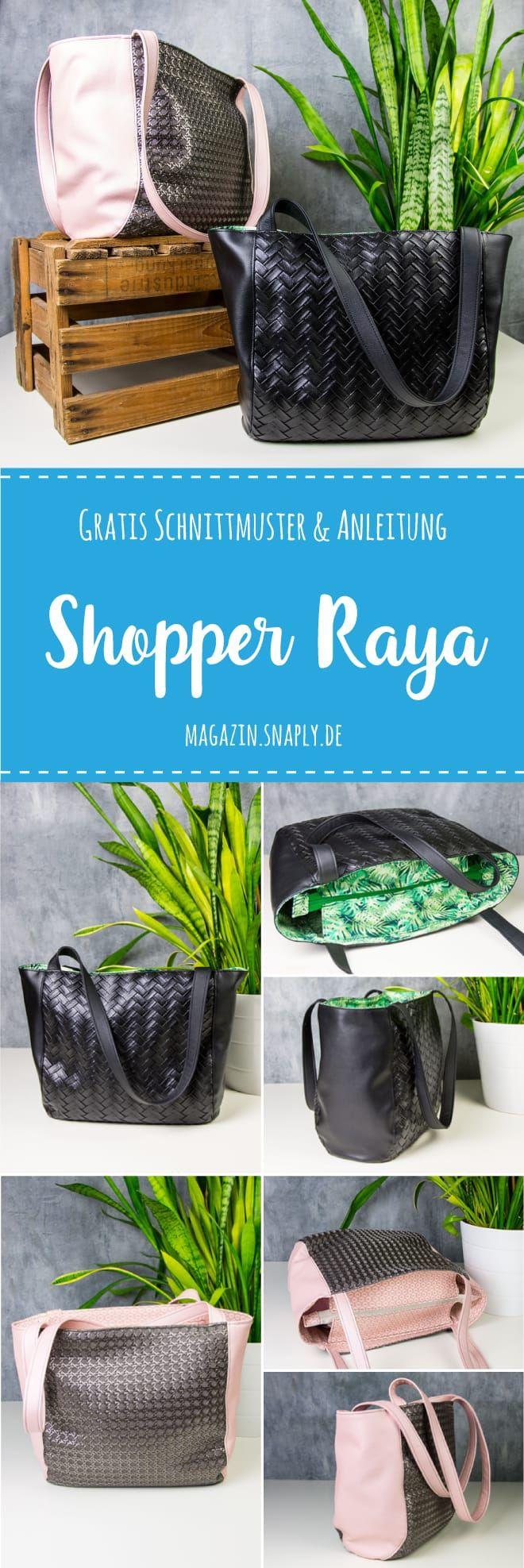 Shopper «Raya» – patrón de costura e instrucciones de costura gratis – Snaply Magazin DE  – Bolsa