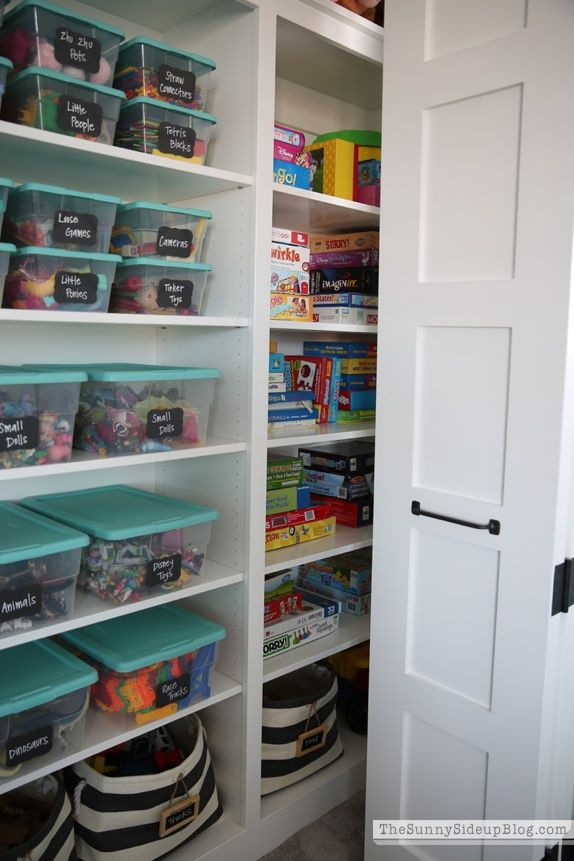 Organized Playroom Toy Closet Organization Playroom