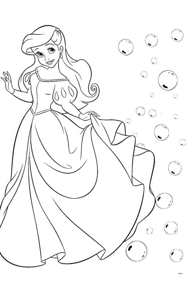 Princess Ariel Coloring Pages Disney Online
