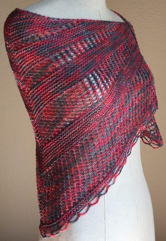 Free Knitting Pattern For Easy One Skein Reina Shawl This Shawl