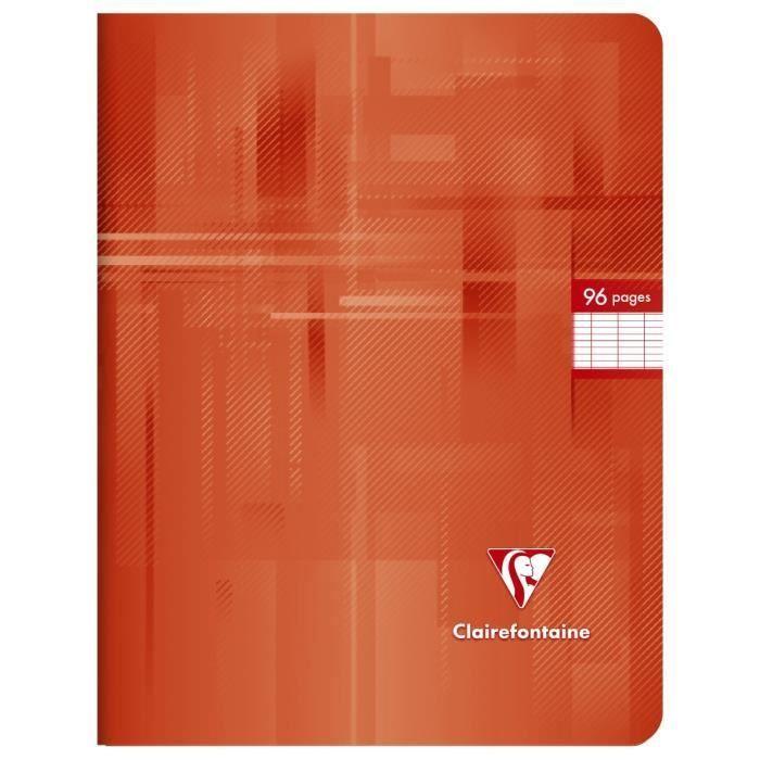 CLAIREFONTAINE – Carnet de notes – 17 x 22 – 96 pages Seyès – Papier P.E.F.C 90G – Couleur rouge   – Products