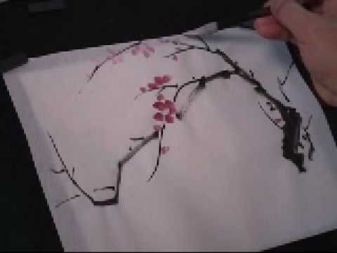 Plum Blossom Chinese Painting Tutorial 3 Of 5 Chinese Painting