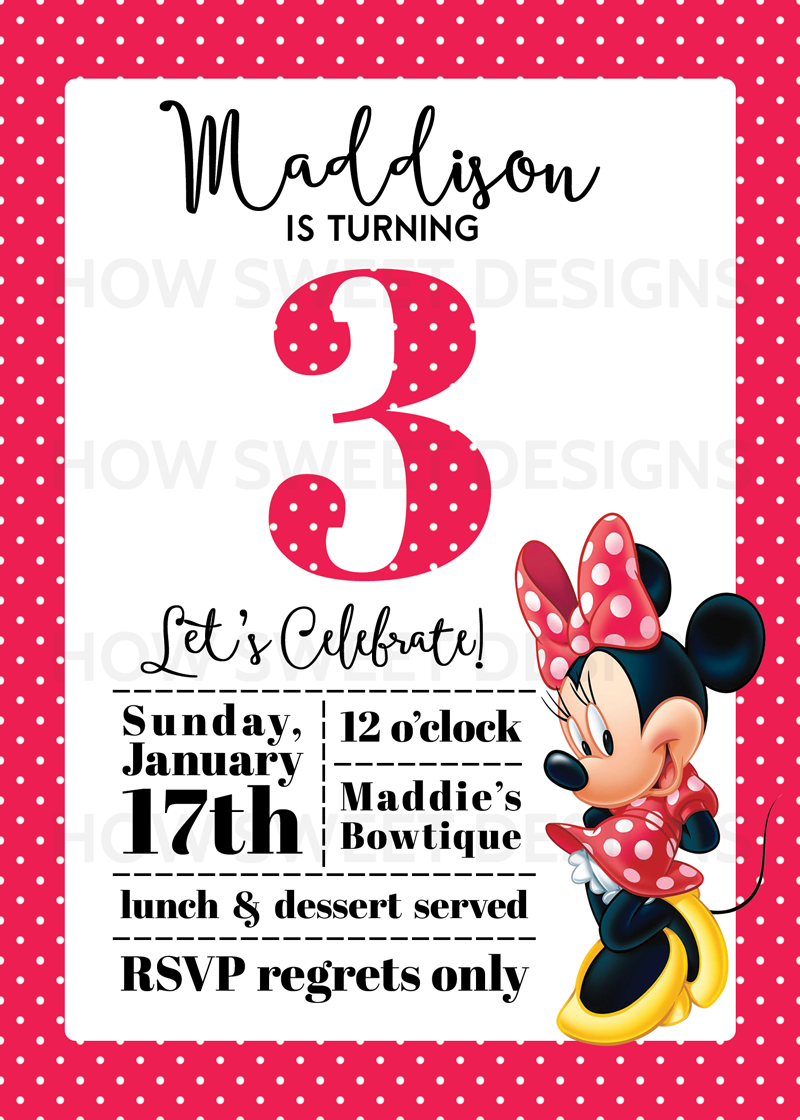minnie mouse party baby a s 3rd