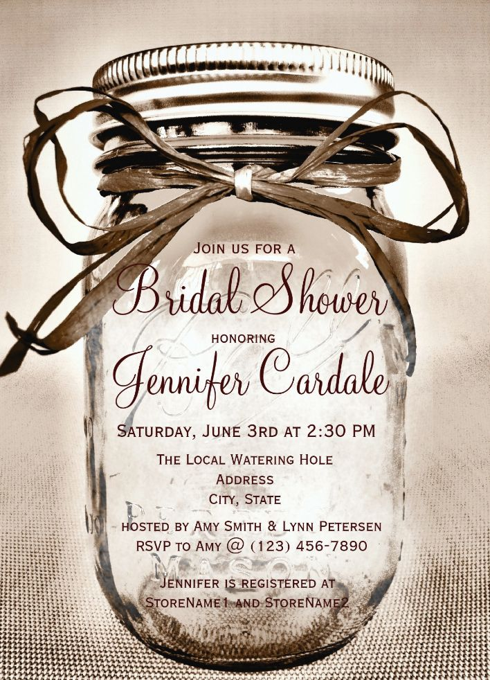 Country mason jar rustic bridal shower invitations rustic country country mason jar rustic bridal shower invitations these unique mason jar bridal invitations are perfect for a rustic country themed bridal shower filmwisefo
