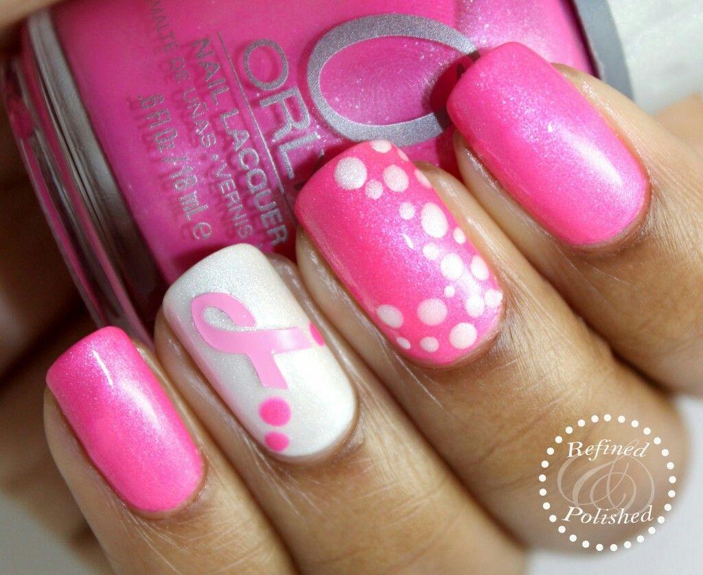 Pin On Breast Cancer Nail Art