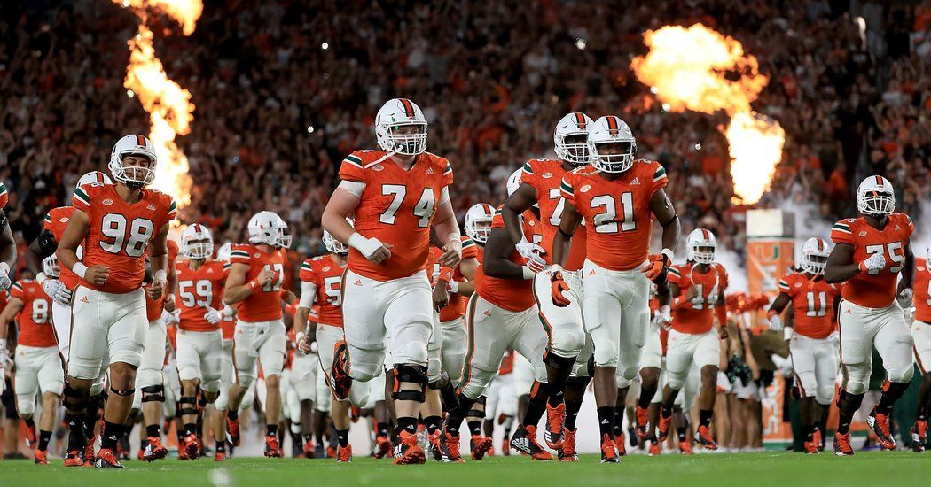 With Statement Win Over Notre Dame Miami Is Back College Football Playoff Miami College Football Usa Sports