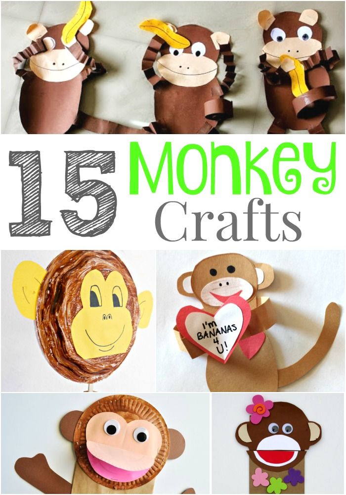 15 Wild and Fun Monkey Crafts that Kids Will Go Bananas ...