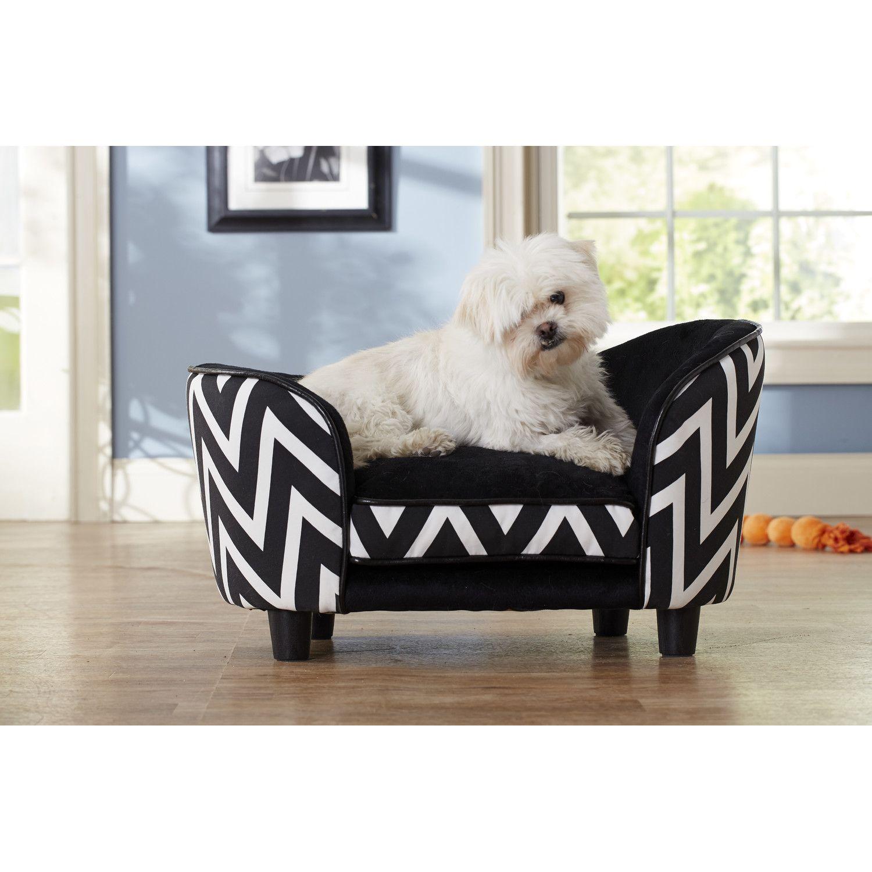 Enchanted home pet chevron snuggle pet bed dog sofa bed