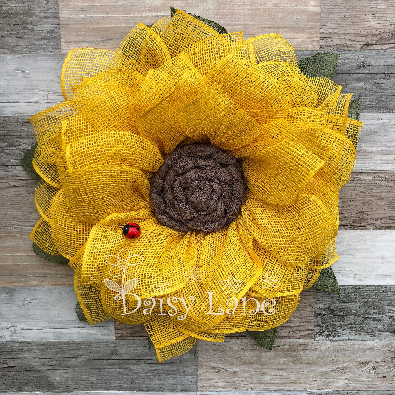 Photo of Bestseller, sunflower wreath, autumn wreath, flower wreath, sunflower, door wreath, front door decor, sunflower wreath for front door mesh