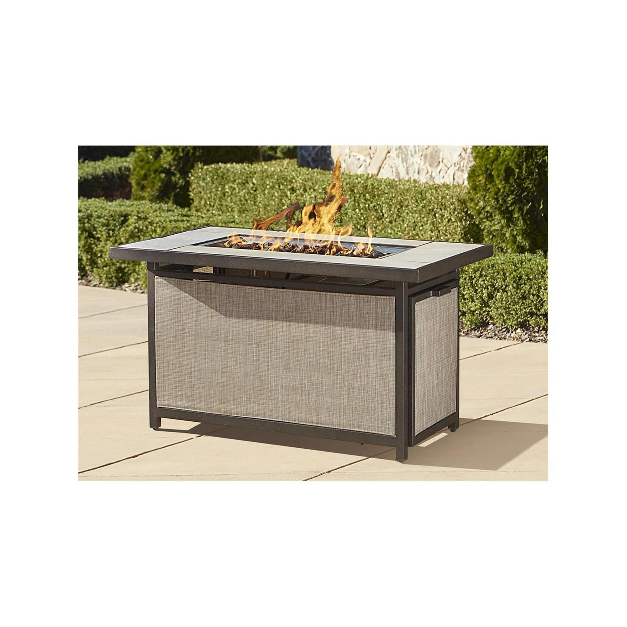 cosco outdoor serene ridge aluminum propane gas fire pit table
