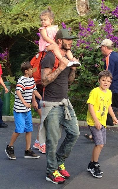 Celeb Diary: David Beckham @ Legoland in Carlsbad, California