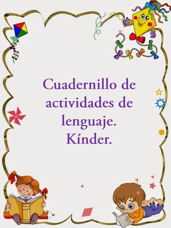 Cuadernillo de actividades de lenguaje para kinder.   Libros ...
