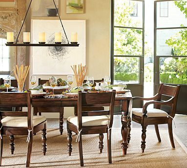 Hayden Extending Dining Table potterybarn PERFECT SIZE EXTENDS