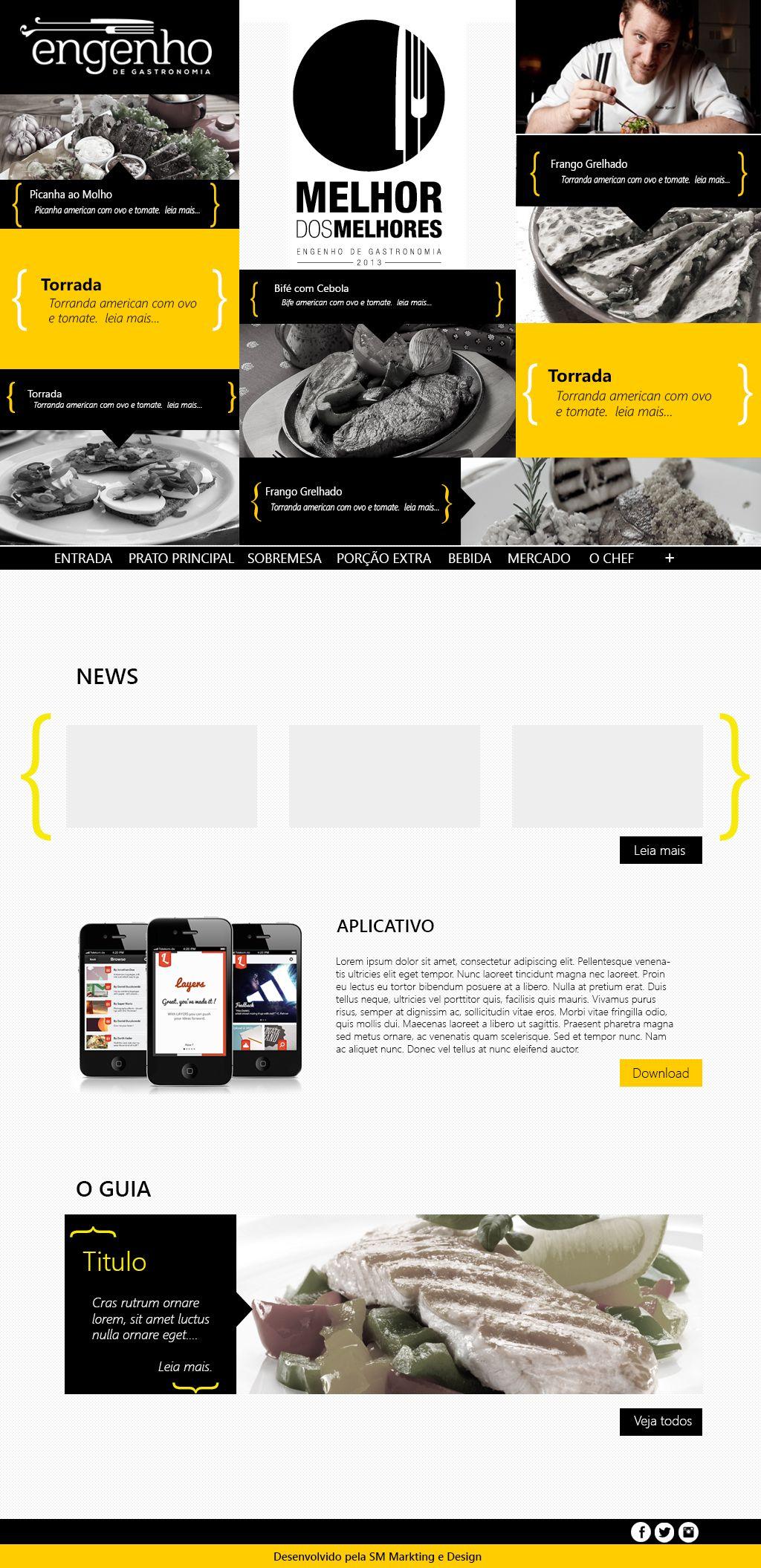Layout para Empresa Engenho e Gastronomia