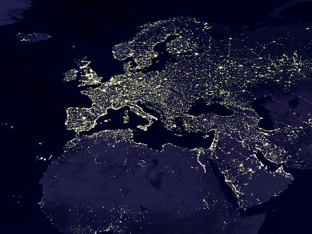European lights by night real picture as taken by nasa space earth european lights by night gumiabroncs Choice Image
