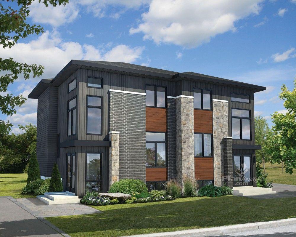 Ces maisons tage jumel es de style urbain se d marquent - La demeure moderne gb house par mmeb architects ...
