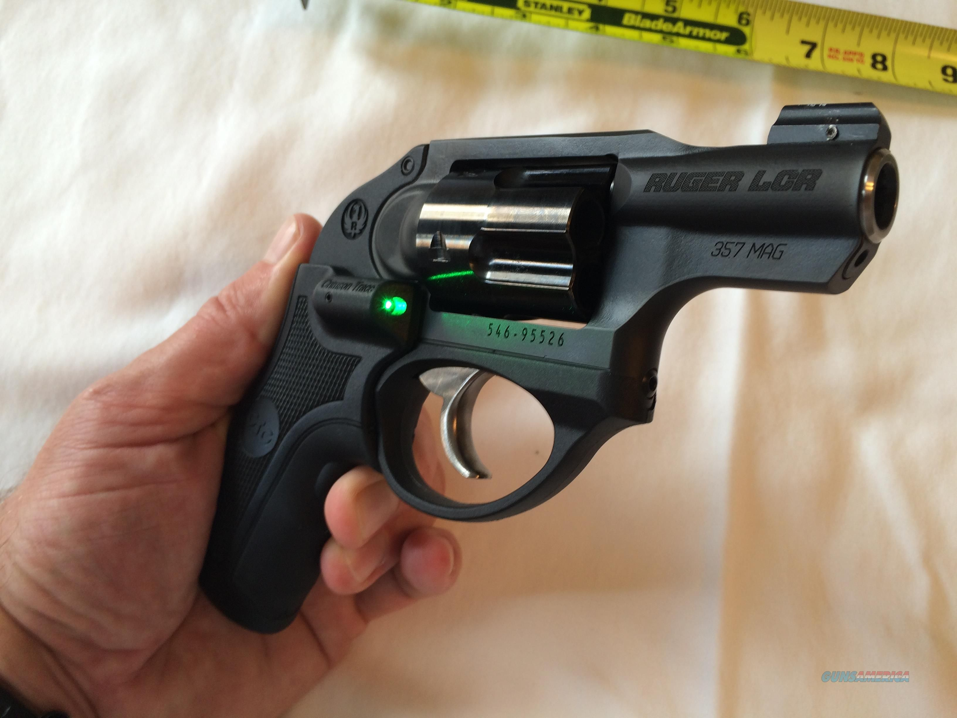 Ruger LCR  357 Magnum with GREEN Crimson Trace lasergrip Guns