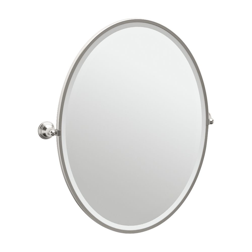 "Gatco Charlotte Satin Nickel 29"" x 33"" Large Wall Mirror - Style # 7X634"