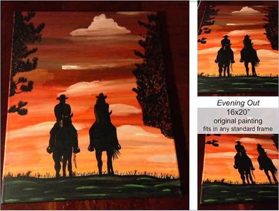 """Original Acrylic Painting """"Evening Out"""""""