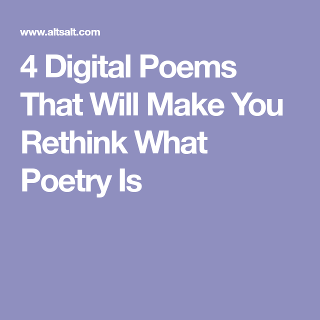 Digital Poems 6