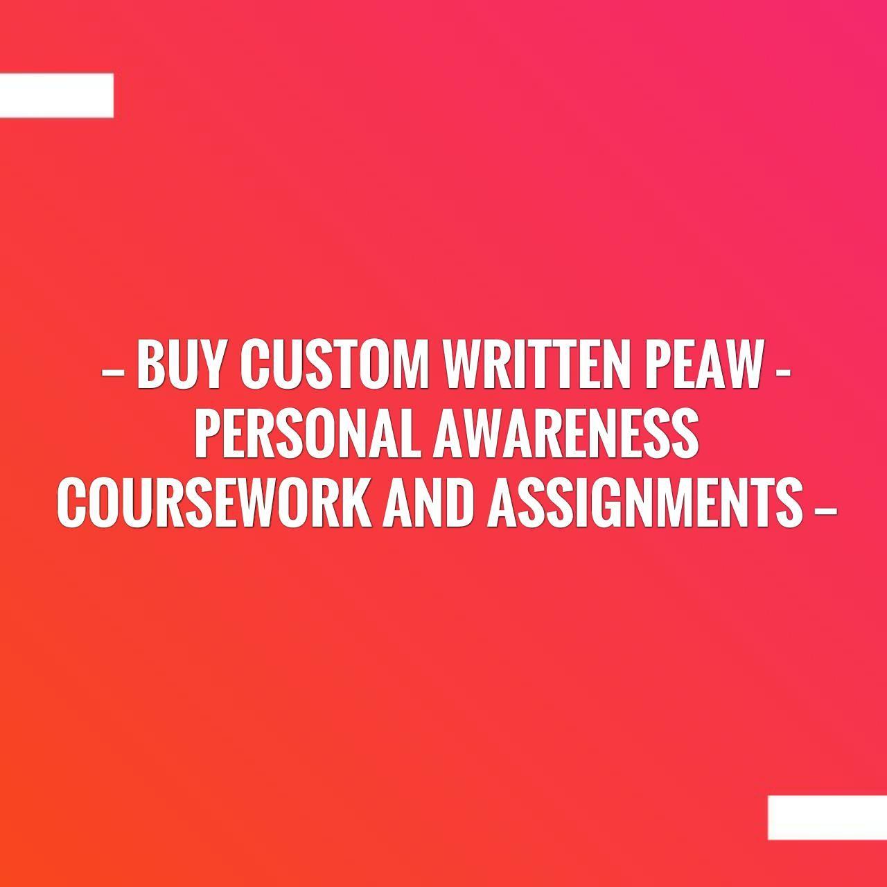 custom written coursework