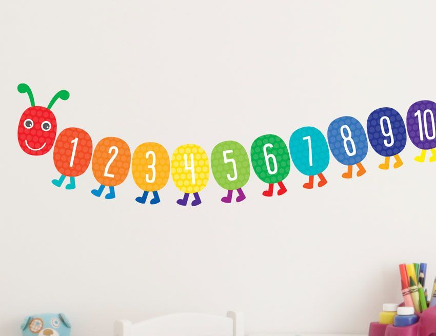 play room educational wall decals   21pc Bright Star Kids Playroom ...
