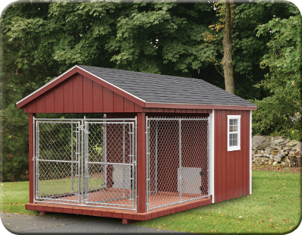 2 Dog Kennel Need To Make This Front View Of 8 X 14 Dura Temp Dog Kennel Dog Houses Insulated Dog Kennels Dog Kennels For Sale