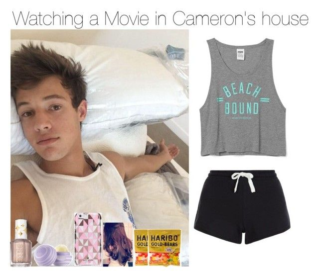 """""""Watching a Movie in Cameron's house ( boyfriend )"""" by apotatothatlovesniallhoran ❤ liked on Polyvore featuring Victoria's Secret, Essie, Eos, Kate Spade, claire's and nandilovesthis"""