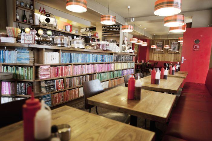 Elmegade The Laundromat Cafe Laundromat Cool Bookshelves Laundromat Business