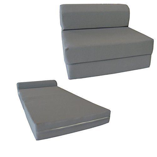Dandd Futon Furniture Gray Sleeper Chair Folding Foam Bed