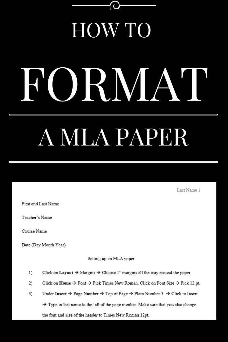 how to type a research paper in mla format Follow the steps below to format your essay or research paper whenever you use microsoft word 2007 note: if you are writing a research paper in the mla format that includes a title page and an outline page or pages before the body of the paper, you can download a template and substitute your information on the title, outline pages, and first.