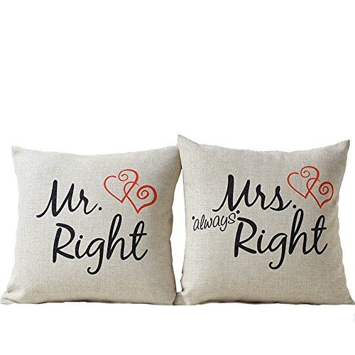 Mr Right Mrs Always Right Liebhaber Hochzeit Kissen Cidbe Https
