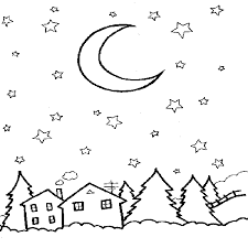coloring pages night | Image result for night colouring | toddler | Night skies ...