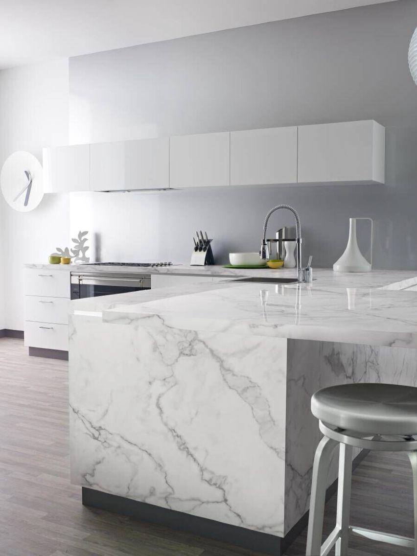 Best White Carrara Marble Top Laminate Kitchen Replacing 400 x 300