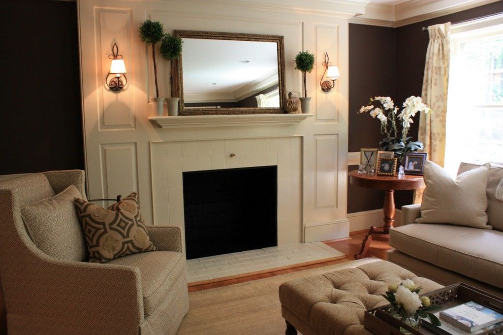 Large mirror over fireplace if i could decorate my house - How to decorate a mantel with a mirror above it ...