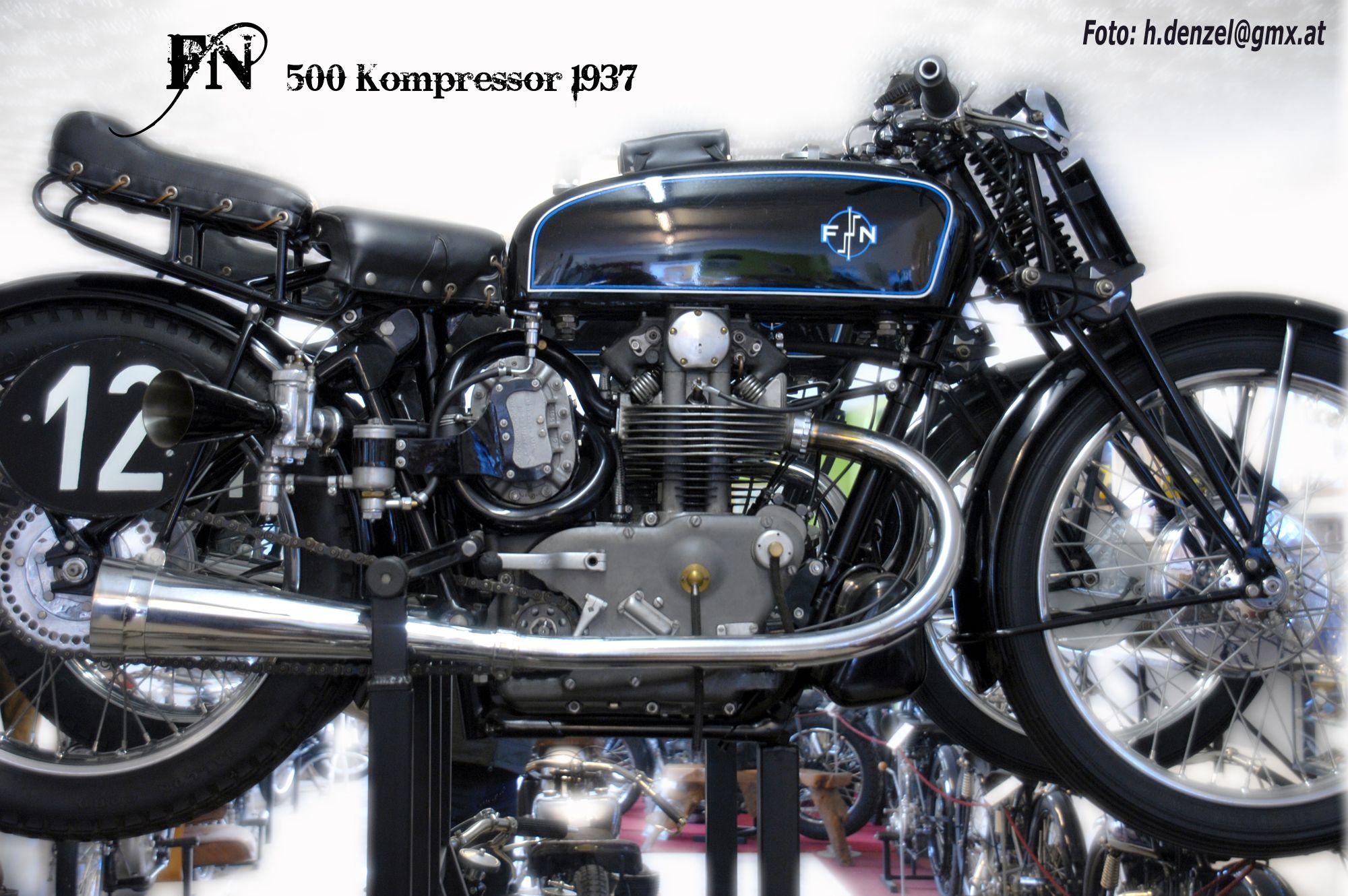 fn 500 kompressor 1937 kompressor oldtimer und motorrad. Black Bedroom Furniture Sets. Home Design Ideas