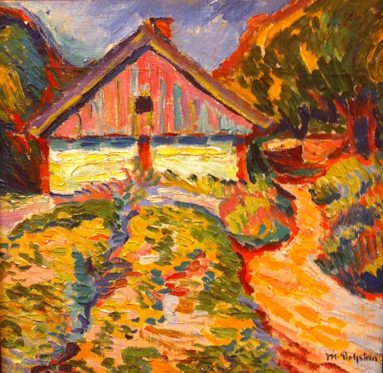 Casa De Kuhrische Nehrung Max Pechstein Art Expressionist Painting German Expressionism Art