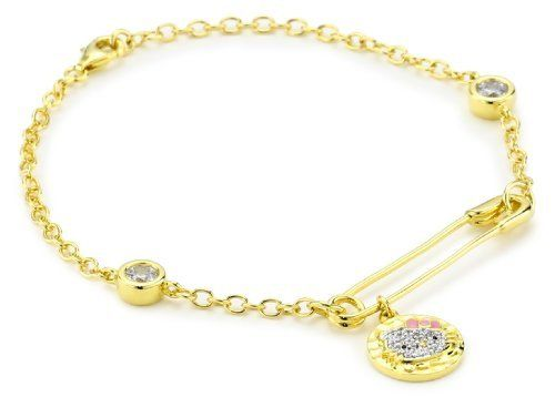 Hello Kitty by Simmons Jewelry Co Hammered Disc 14K Gold Plated