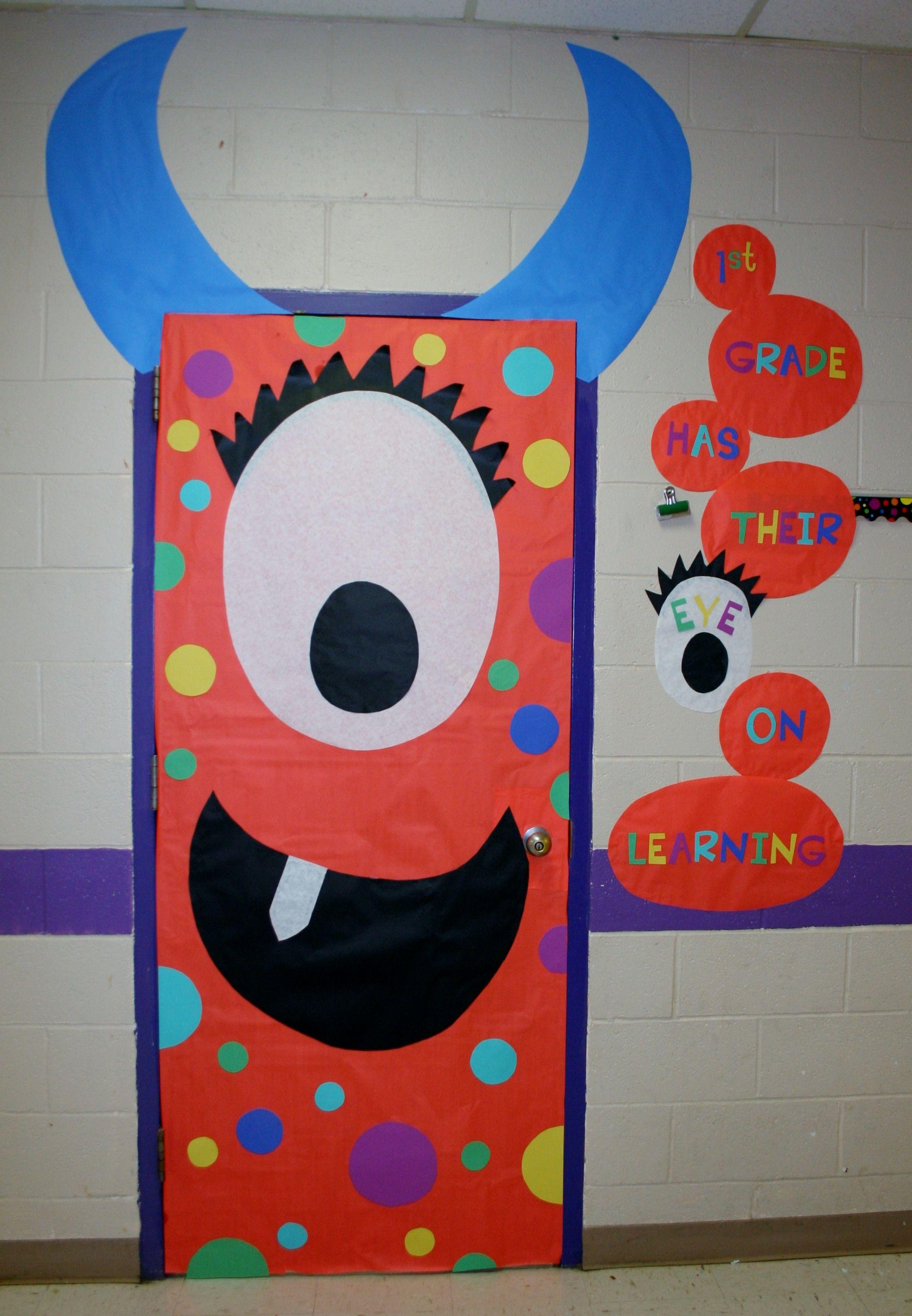Halloween classroom door decorations - Halloween One Eyed Monster More M S