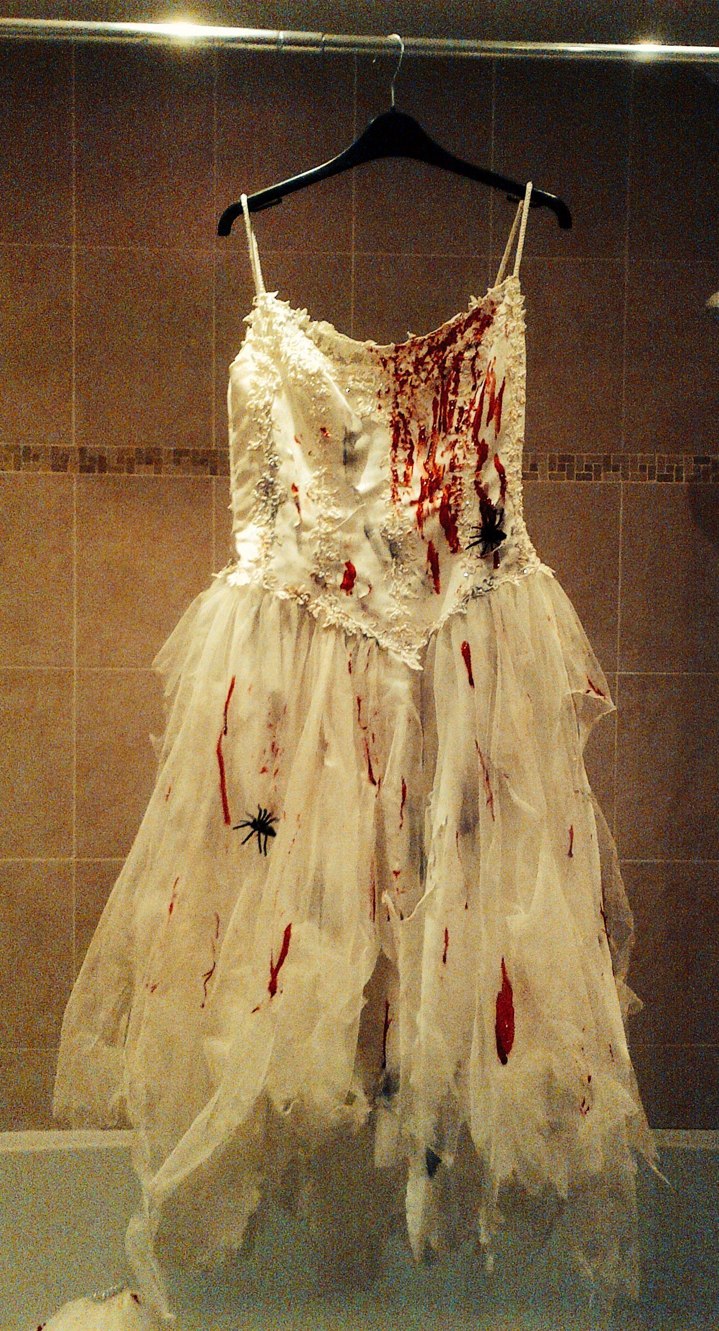 Zombie bride homemade halloween dress creepy halloween pinterest