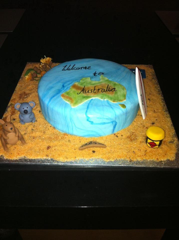 A welcome to Australia cake