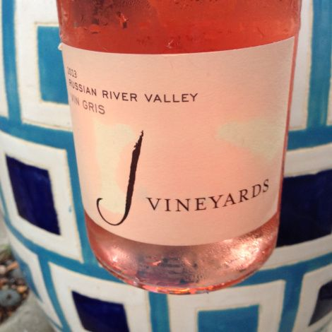 one of my personal fave rosés: J Vineyards Vin Gris ($20 here). The absolute best match of fruit and refreshment. Love!