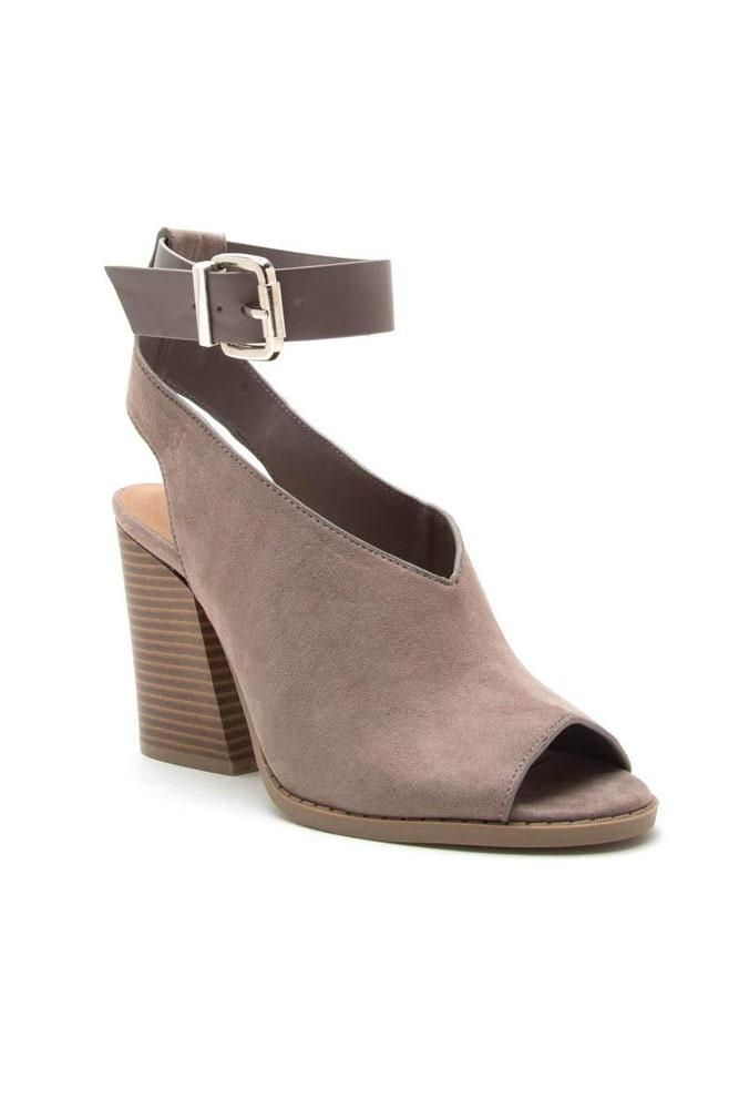 10abb2b3e95 Making My Way Ankle Strap Heels in Taupe