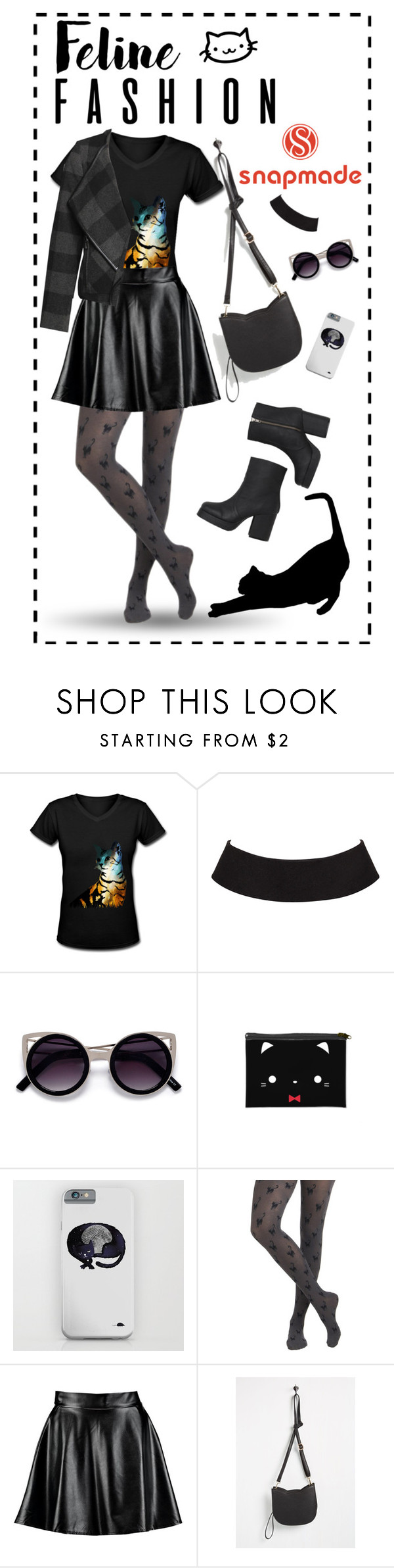 """""""Feline fashion"""" by iceasily ❤ liked on Polyvore featuring Boohoo and Devoted"""