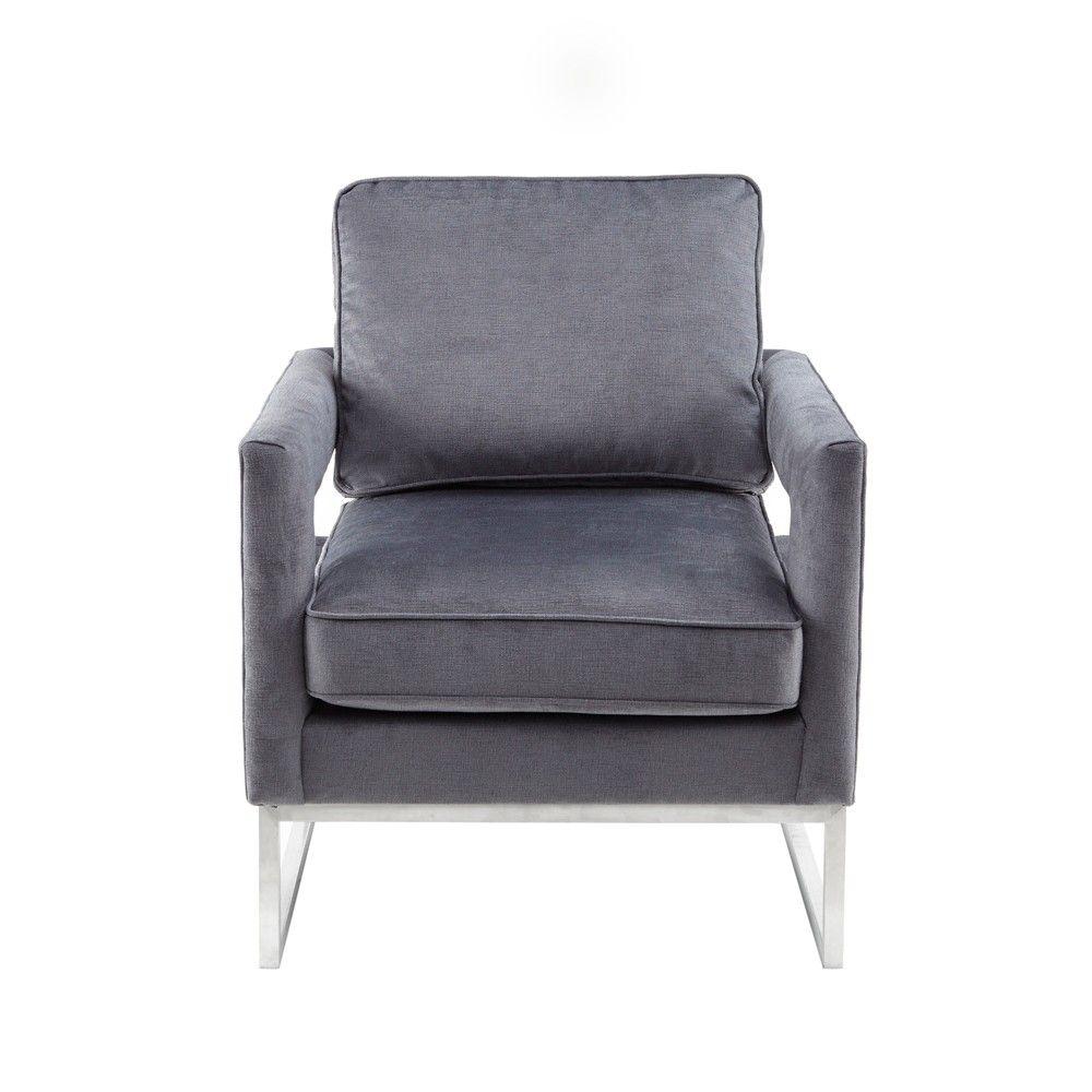 Vikki Accent Arm Chair Gray Armchair Chair Most Comfortable