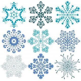 white snowflake tattoo stock vector of outline tattoo vector rh pinterest com Snowflake Black Background Black Tree Logo